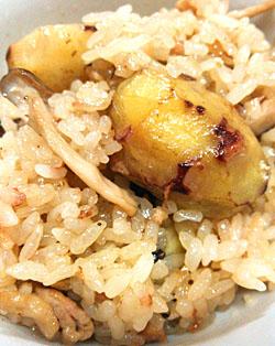 「栗とキノコの中華風ちまき」作り方とレシピ